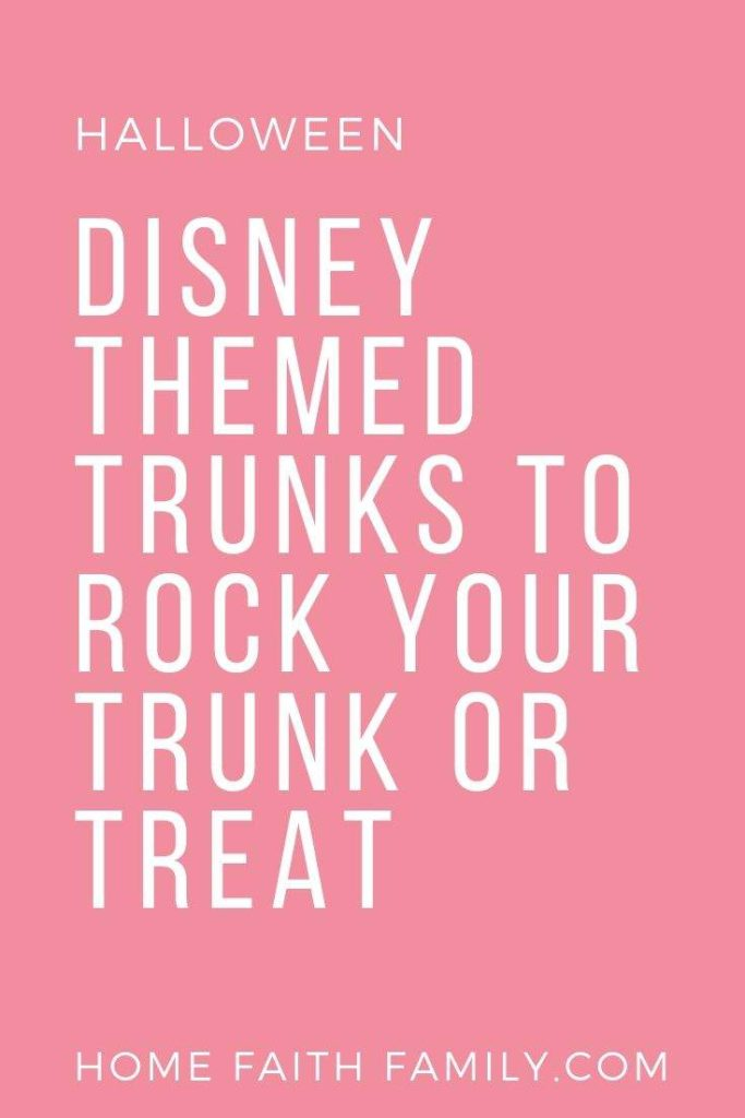 These Disney trunk or treat ideas for your car are perfect! From Up to your favorite Disney Princesses, you'll love these easy trunk or treat ideas for Halloween. #disney #trunkortreat #halloween
