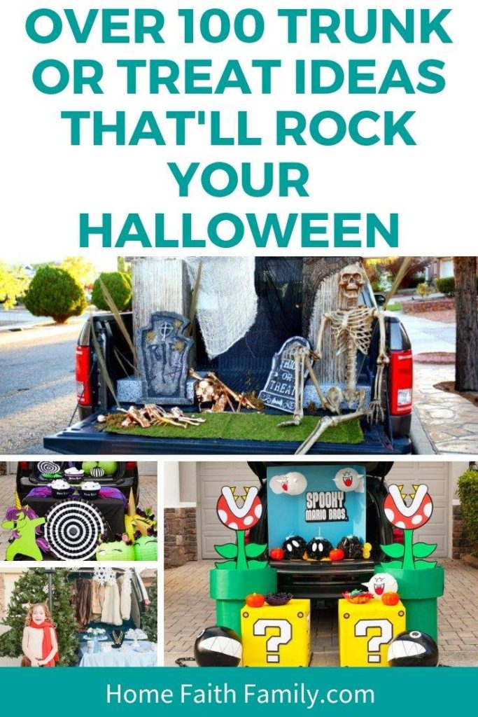 Want the perfect trunk for trunk or treat? This list of 100 ideas from Disney, Harry Potter, superheros, and more will rock your Halloween. The best part is how easy some of the trunks can be put together. Come find your favorite Halloween trunk. #halloween #trunkortreat #DIY