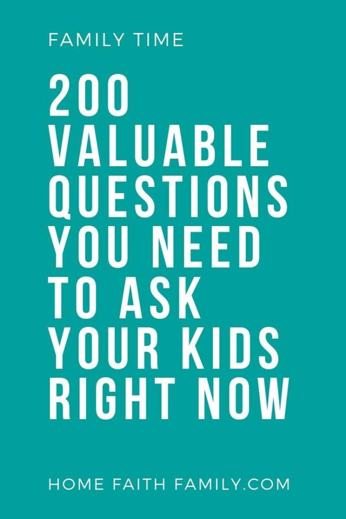 If you want to understand your child's heart you need to ask the right questions. This list is proven to strengthen your relationship with your children by having genuine conversations. This list is perfect for kids of any age. Come find your favorite. #conversation #strengthenfamily #family #familytime