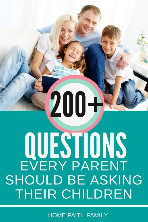 My kids LOVE answering these questions! If you're searching for valuable questions to ask your children, grow your relationship, and strengthen your bond together, then you'll love this list. Keep reading to find your favorite! #questions #questionsforkids #familytime #kids #relationships