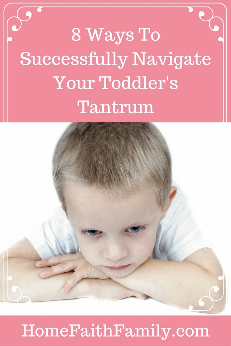 Having a screaming toddler is not fun. Here are 8 easy ways to successfully navigate your toddler's tantrum without losing your sanity. #1 is important and #8 will set you and your toddler up for success in the future. Click to read.