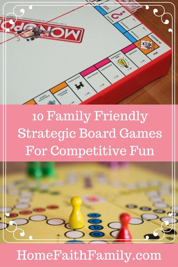 10 Family Friendly Strategic Board Games for Competitive Fun