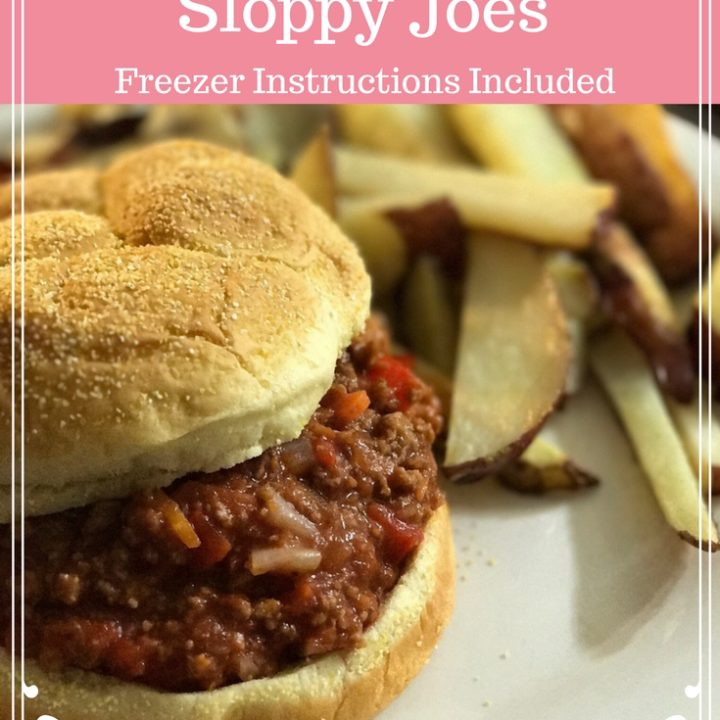 Amazing and Easy Sloppy Joes Recipe | This easy sloppy joes recipe will become your new favorite quick dinner recipe. Loaded with healthy ingredients such as carrots and red peppers, even your pickiest eaters won't complain. This recipe can be safely frozen for up to 3 months. Freezer instructions are included. Click to get your free recipe.