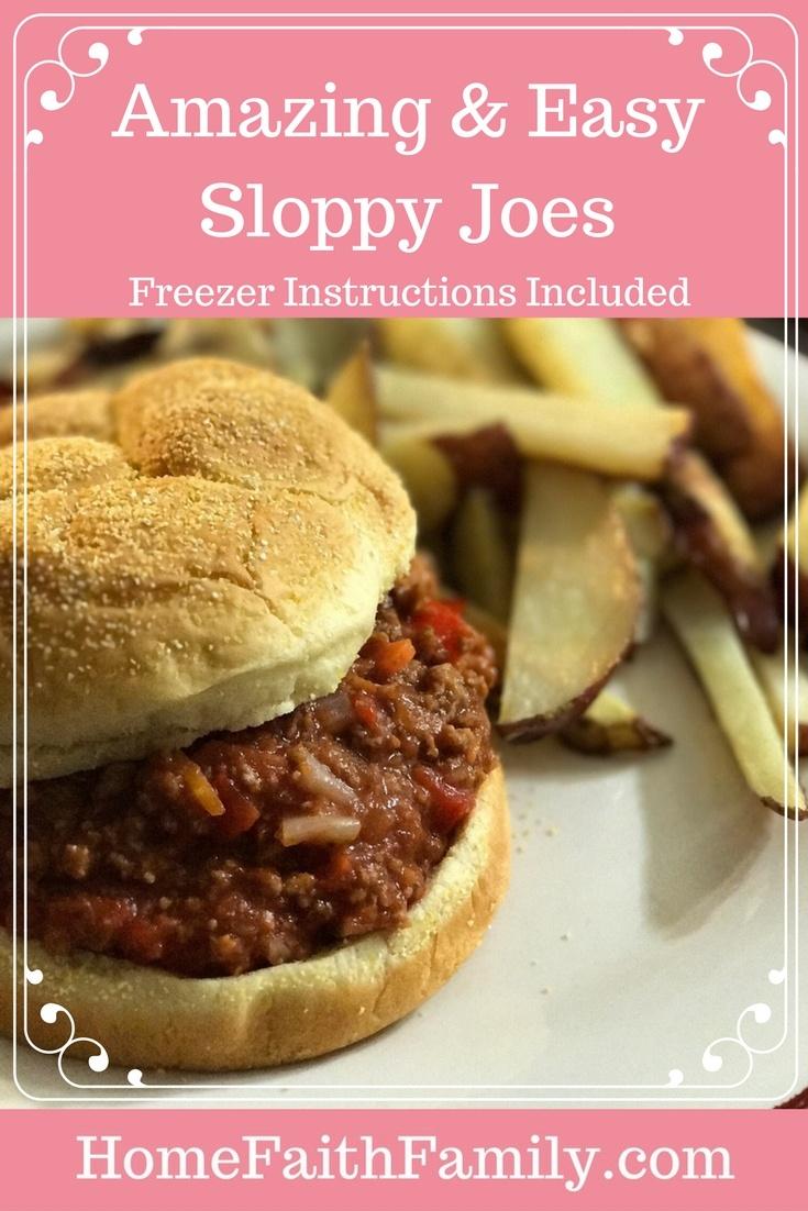 Amazing & Easy Sloppy Joes