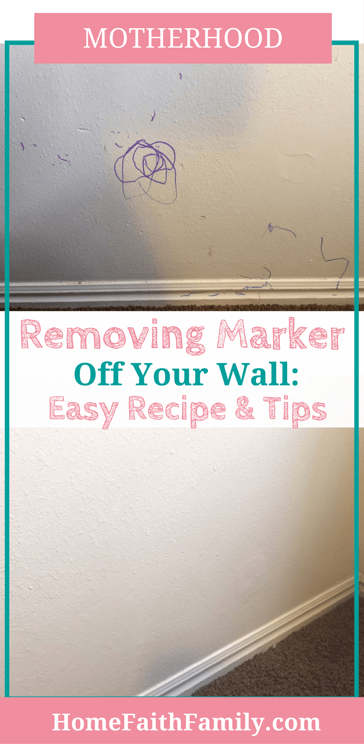 Are your walls covered in marker from little artists living at your home? Removing marker off your wall is easier than ever! Click to read for the recipe and tips (& to save your sanity).