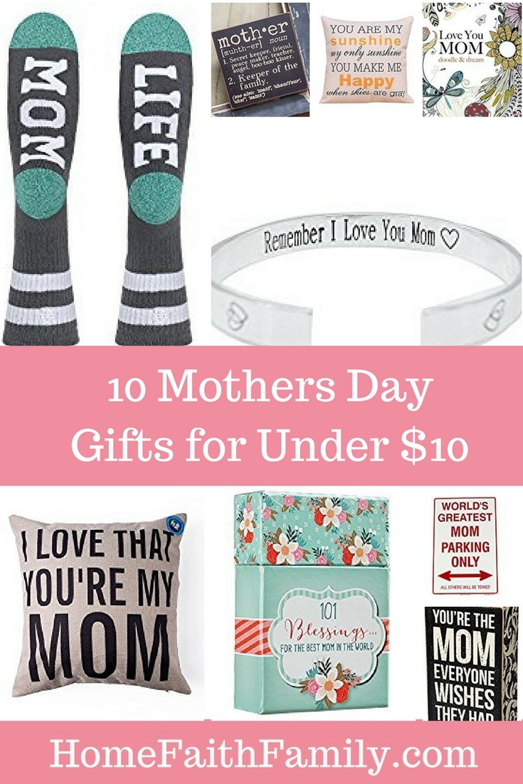 10 Mothers Day Gifts for Under $10 | Are you on a budget this year for Mother's Day? Are you looking for quality Mother's Day presents without breaking the bank? These 10 Mothers Day gifts for under $10 are simply adorable. Ranging from adult coloring books, decorations, pillow covers and more. Click to read and find your favorite.