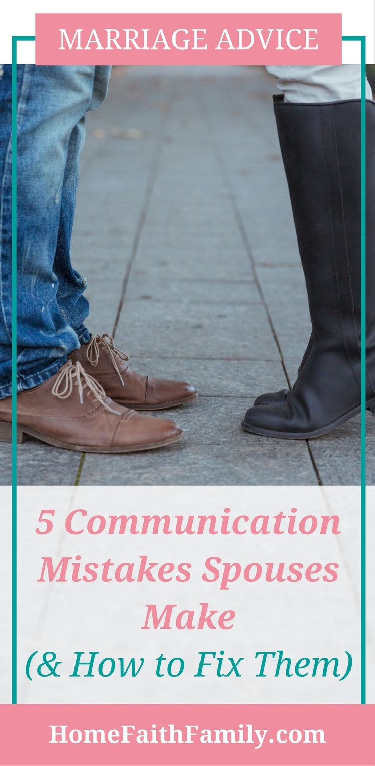 One way to create a successful marriage is to have successful communication in your relationship and grow your communication skills. These 5 communication mistakes spouses make will destroy a marriage. (Marriage Advice!) Click to learn what they are and how to fix them.