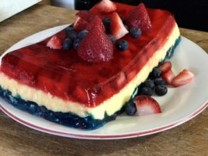 This red, white & blue layered jello recipe will make you the star of the dinner table. With easy to follow instructions, this is one jello recipe that can't go wrong. Click for your recipe.