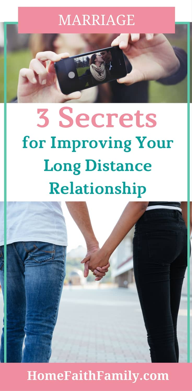 Maintaining a long distance relationship doesn't have to be hard. Here are 3 secrets for strengthening and improving your long distance relationship, especially when you're married. Click to read this marriage advice from someone who's been there before.