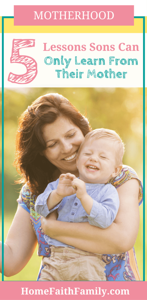 The relationship between mother and son is so important. The love shared and the lesson's taught last a lifetime. There are 5 specific lessons a mother teaches her son. Click to read and see if your son is learning these things from you.