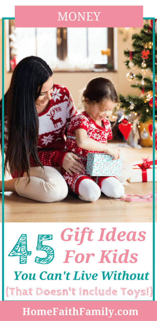 Are you searching for gift ideas for kids that doesn't include toys? Whether it's adorable clothes, craft supplies, or science experiments, there is a gift for everyone on your list this year. Click to read and find your favorite. #giftideas #giftsforkids