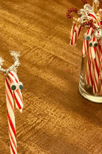 Candy Cane Reindeer Craft For Kids
