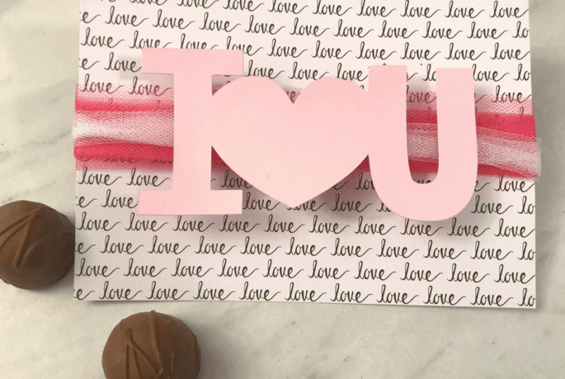 Free Cricut Project I Love You Card