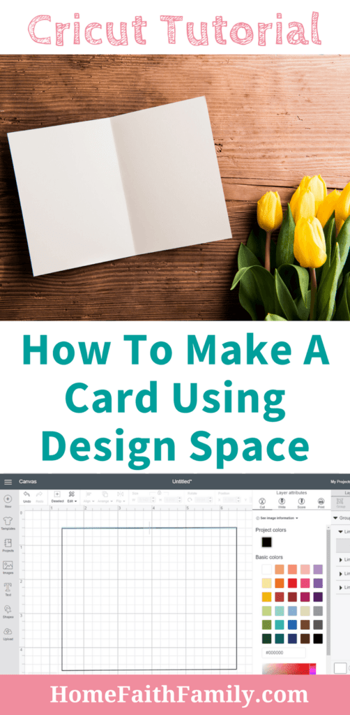 Cricut Tutorial How To Make A Card Using Design Space