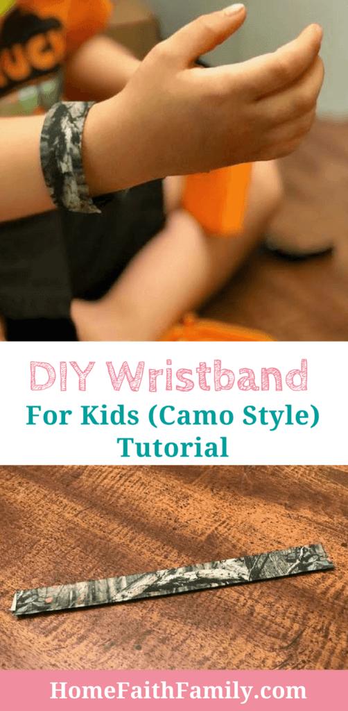 diy wristband for kids camo style