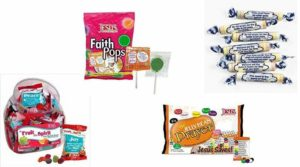 assortment of christian candy for easter