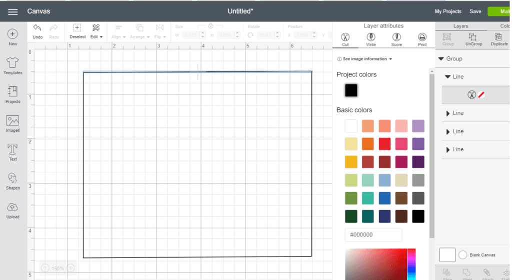 Cricut Tutorial How To Make A Card Using Design Space