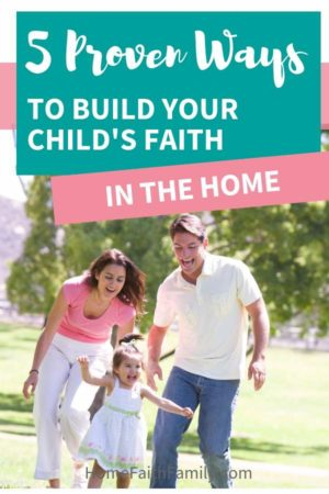 Building faith at home and creating a Christ-centered child doesn't have to be as overwhelming as you think. Helping our kids find faith, learn to pray, and to love Jesus is just the beginning. In an ever-increasing pessimistic world, here are proven ways to build your child's faith in your home. #faith #Jesus #Christian #kids #parentingtips