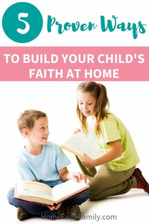 Building faith at home and creating a Christ-centered child doesn't have to be as overwhelming as you think. Helping our kids find faith, learn to pray, and to love Jesus is just the beginning. In an ever-increasing pessimistic world, here are proven ways to build your child's faith in your home. #faith #Jesus #Christian #kids #parentingtips | finding faith, faith encouragement, faith goals, prayer life, faith at home, faith in God