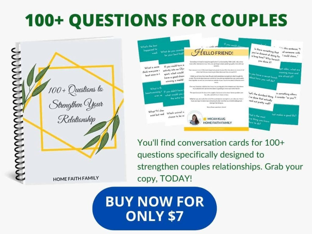couples question and conversation cards.