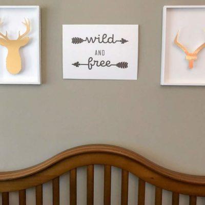 DIY Wild & Free West Elm Knock Off Home Decor