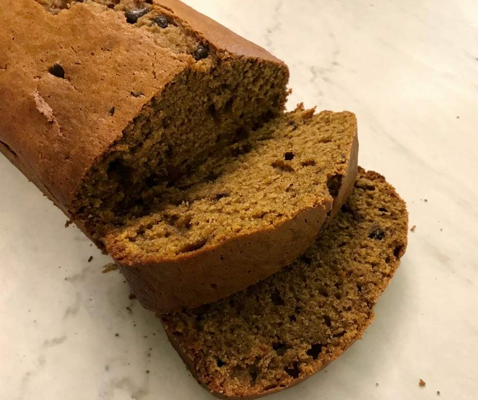 This easy chocolate chip pumpkin bread recipe is our family's favorite! Whether there is a craving for warm bread on a cold winter day or we are making a batch to freeze for later, this pumpkin bread will be a huge hit in your kitchen. Continue reading to start baking this easy recipe. #pumpkin #pumpkinbread #chocolate #chocolatechip #food