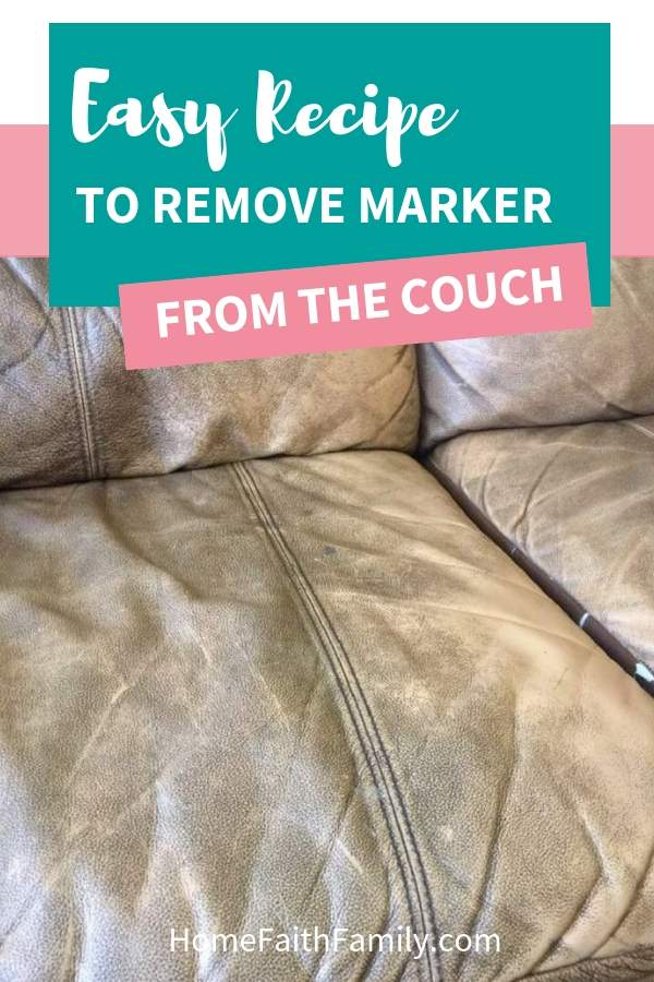 how to get marker off couch