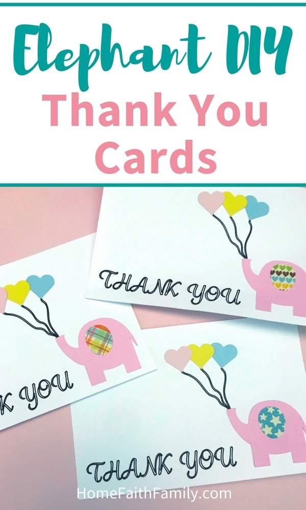 elephant diy thank you cards home faith family