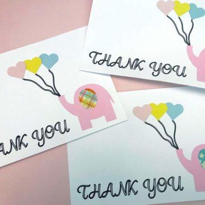 Elephant DIY Thank You Cards
