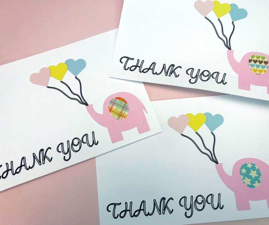 Elephant Diy Thank You Cards Home Faith Family