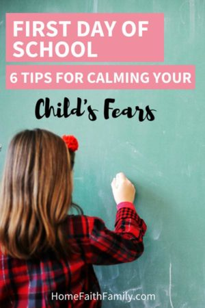 The first day of school can be scary for some children. Help calm your child's fears with these 6 easy tips. You'll be setting your child up for success inside and outside the classroom. Keep reading to find your favorite idea! #firstdayofschool #kindergarten #preschool #school | first day of school ideas, the first day of school, first day of school kids, first day of school class, first day of school tips