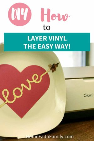 There are so many easy crafts you can make by learning how to layer vinyl, and today, I'm going to show you how using Cricut's Design Space. You're going to love these easy step-by-step instructions for your next craft project. #cricutmade #cricut #diy #vinyl | Free SVG, Cricut, Cricut Tips, Layering Vinyl