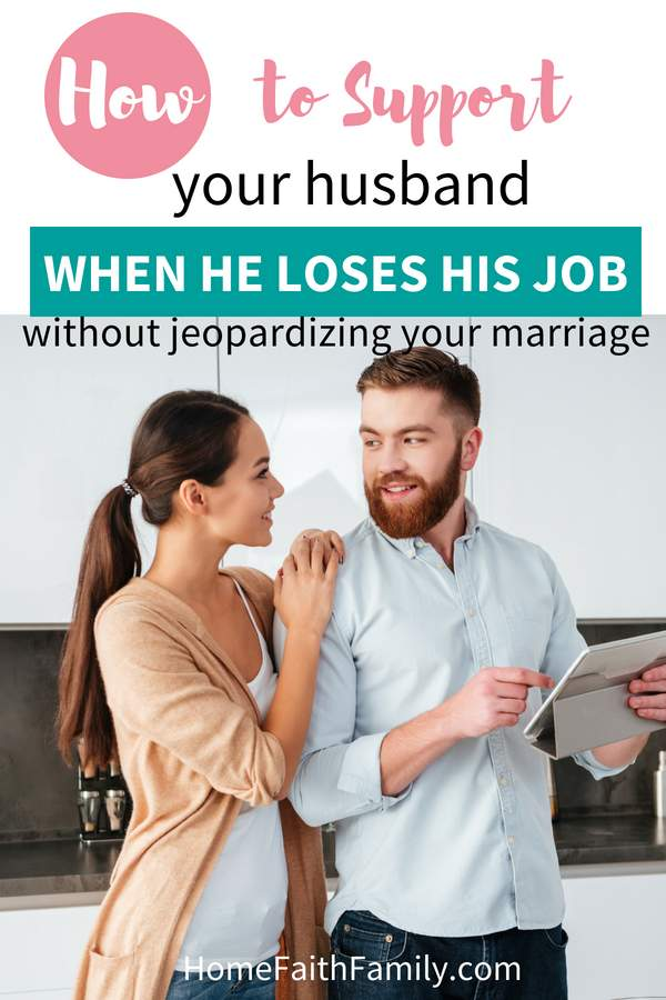 Having your husband be the breadwinner and provider in the home is key to his mental well-being and success. Today we're going to talk about how you can support your husband when he loses his job without jeopardizing your marriage. | together in marriage | job loss | encourage your husband | equal in relationships