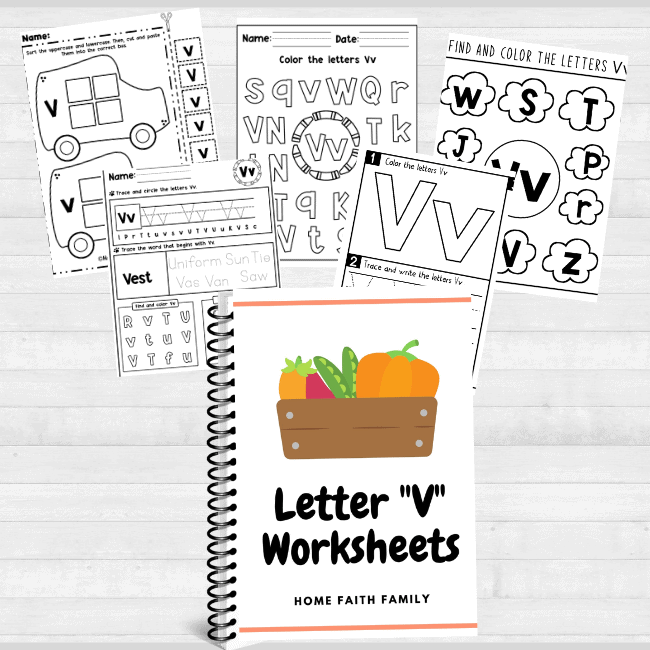letter v activities and worksheets for preschoolers.