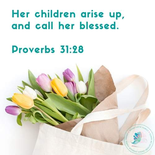 Your mom is a Proverbs 31 woman. Share with her this beautiful Bible verse and find your next favorite Mother's Day quote from this list. #mothersday #BibleVerses #Proverbs31 #Proverbs31woman