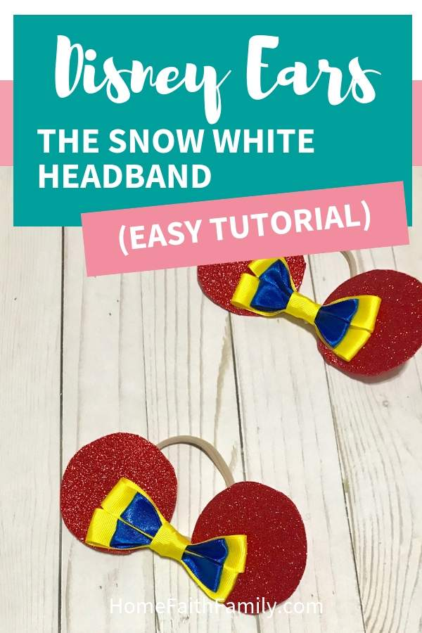 DIY this cute Disney inspired ears headband for your Snow White fan. This easy tutorial will walk you step-by-step to creating the perfect set of ears for your next Disney vacation. #Disney #SnowWhite #Disneyears #Disneyheadbands