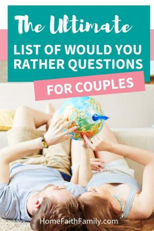 These would you rather questions for couples are perfect for your next date night idea! These questions are going to make you laugh, have you thinking, and most importantly, communicating and connecting with your spouse. Keep reading to find your favorite questions. #marriage #wouldyouratherquestions #datenight #communication | would you rather question, hardest would you rather questions, good would you rather questions