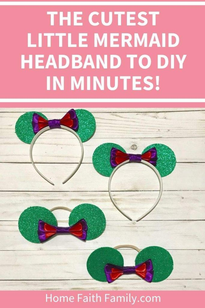 My Cricut Maker made Disney's Princess Ariel headband so quick! This is the perfect Disney ears project for the upcoming Little Mermaid. #LittleMermaid #DisneyEars #CricutMaker