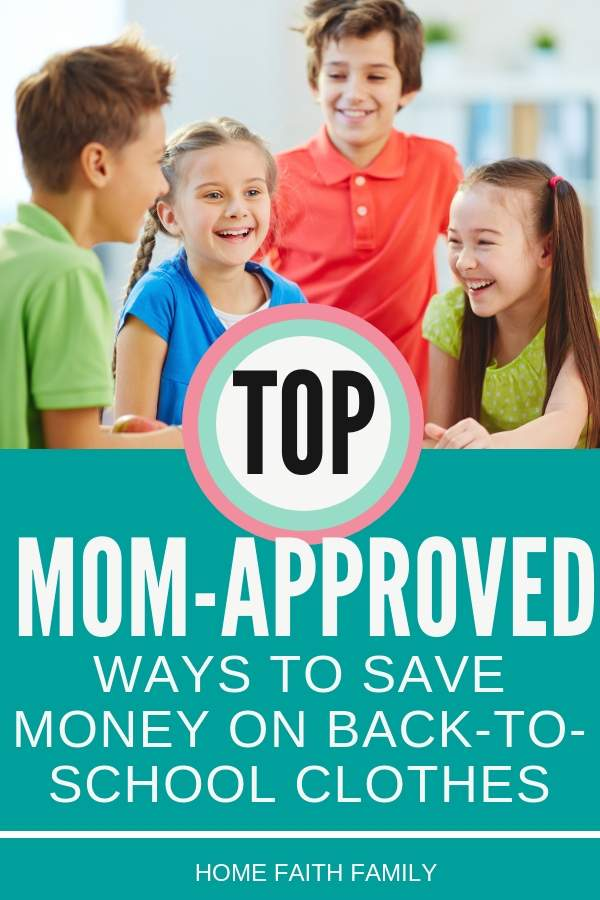 Want to find the perfect back to school clothes without going over budget? These top ways to save are PERFECT for staying under budget and getting your kids back to school clothes ready. #kids #school #backtoschool
