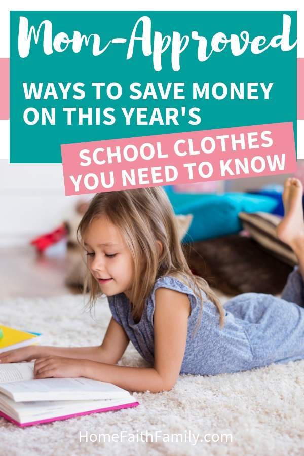 I love these ways to save money on my kids back to school clothes! #frugalliving #clothes #kids #backtoschool