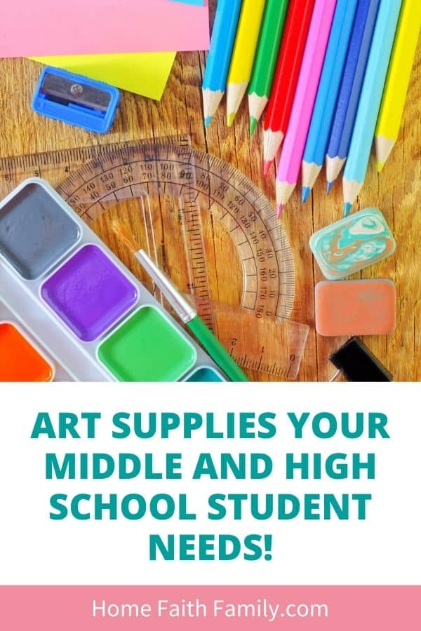 Affordable art supplies for middle school and high school students.