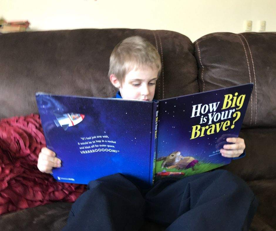 "Your child will love these books on courage as they learn what true courage means for them. Included in this list is Ruth Soukup's book, ""How Big Is Your Brave"" and how children can have courage while still being afraid."