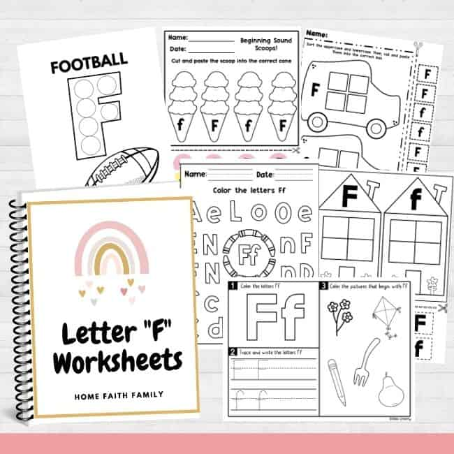 Free printable letter f activity sheets for preschool.