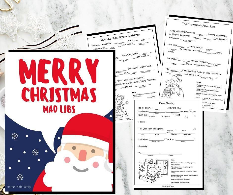 christmas mad libs printable free